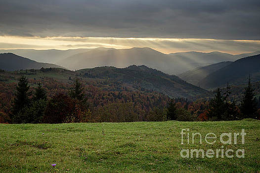 Autumn Evening In Mountains by Michael Lesiv