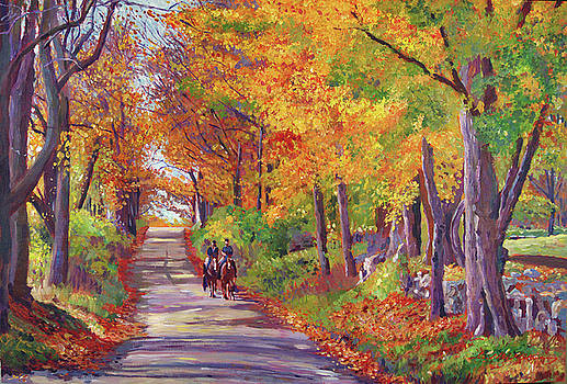 Autumn Ride by David Lloyd Glover