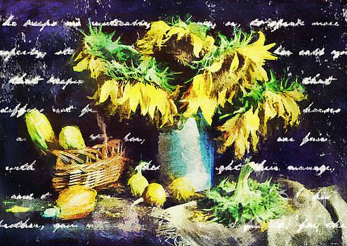 Autumn Sunflowers by Tina LeCour