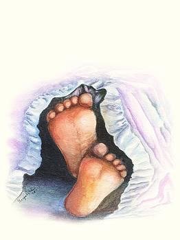 Baby feet by Georgia Pistolis