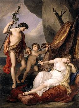 Bacchus and Ariadne Angelica Kauffmann by MotionAge Designs