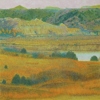 Badlands River Dream by Cris Fulton