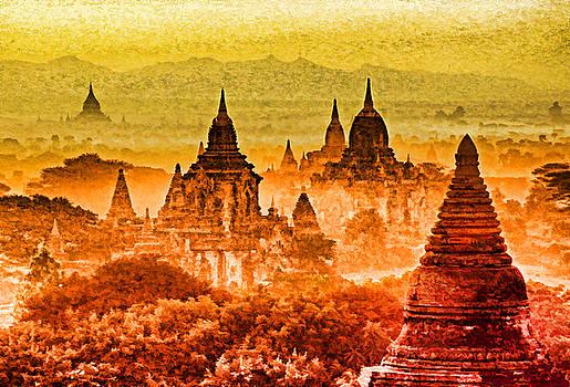 Dennis Cox WorldViews - Bagan Pagodas
