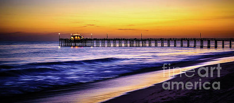 Balboa Pier at Sunset in Newport Beach California by Paul Velgos