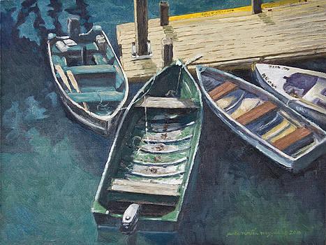 Bar Harbor Boats by Peter Muzyka