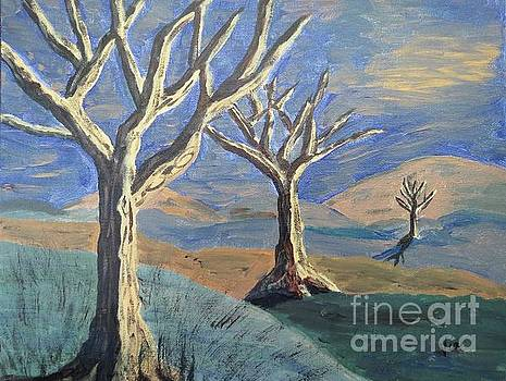 Bare Trees by Judy Via-Wolff