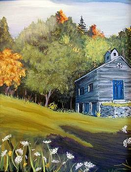 Barn with blue Door by Janet Glatz