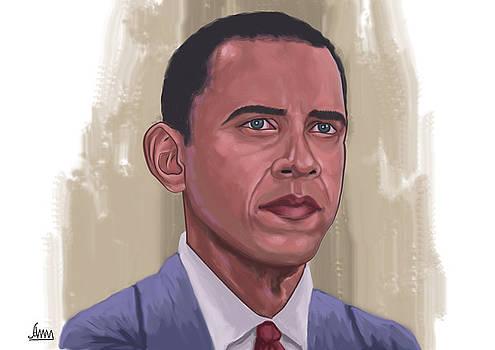 Barrak Obama by Aung Min Min
