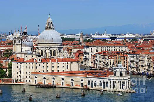 Basilica della Salute and Punta della Dogana in Venice Italy by Louise Heusinkveld