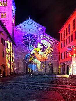 Basilica of Saint Fedele, Como monuments illuminated in Christma by Alfio Finocchiaro