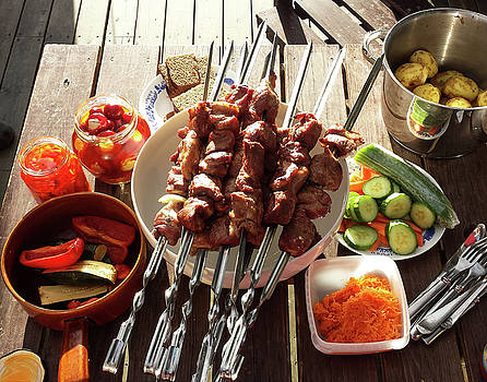 BBQ in summer by Tamara Sushko
