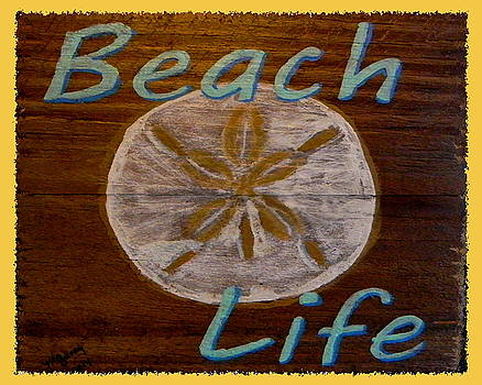 Beach sign by M Gilroy
