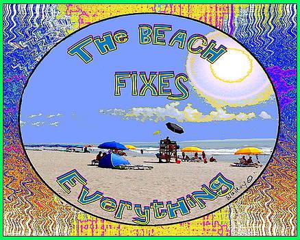 Beach sign by W Gilroy