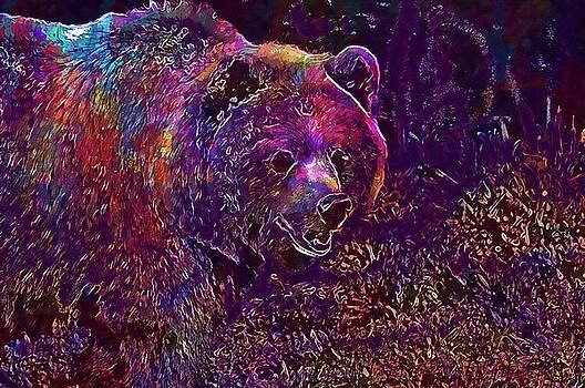 Bear Wildpark Poing Brown Bear  by PixBreak Art