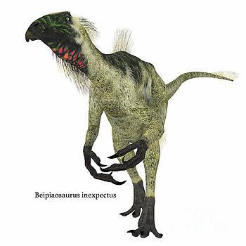 Corey Ford - Beipiaosaurus Dinosaur on White