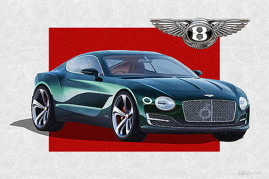 Serge Averbukh - Bentley E X P  10 Speed 6 with  3 D  Badge