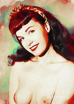 Frank Falcon - Bettie Page, Vintage Pinup Star