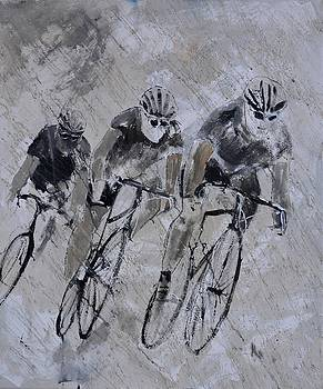 Bicycles in the rain by Pol Ledent