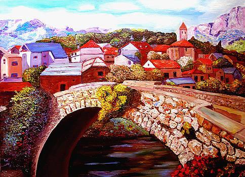 Bielsa Village Bridge by JoeRay Kelley
