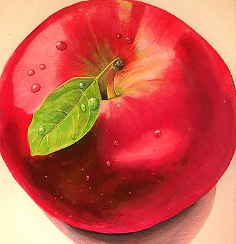 Big Red Apple by Ivy Stevens-Gupta