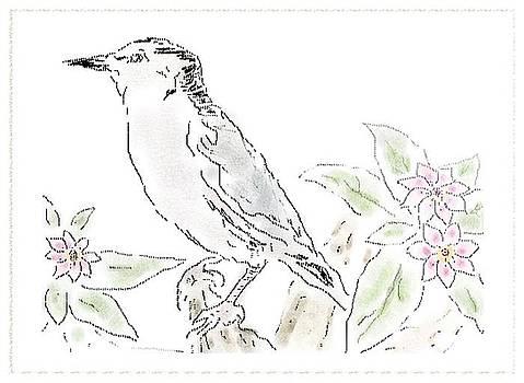 Bird Sketch 9 by Shishir Thadani