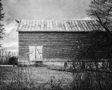 Lisa Russo - Black and White Barn Landscape