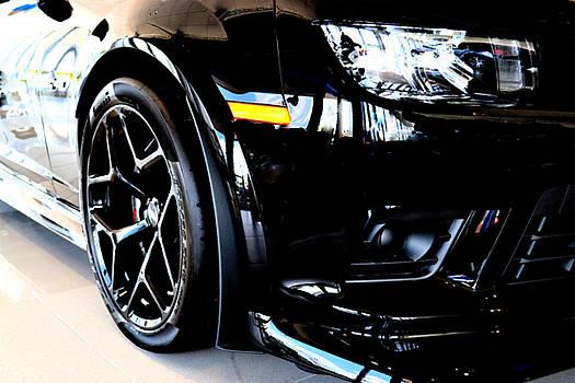 Black Chevy Camaro Z28  by Katy Hawk