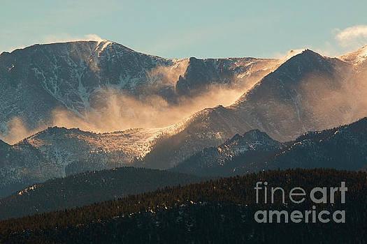 Steve Krull - Blowing Snow on Pikes Peak Colorado