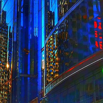 Blue Cityscape by Marianne Dow