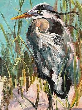 Blue Heron by Susan E Jones