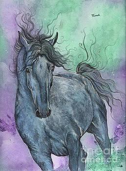 Blue Horse by Angel Tarantella