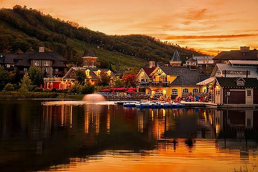 Blue mountain Village by Jeff S PhotoArt