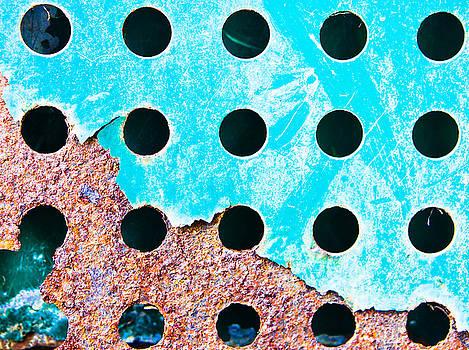 Blue rusty metal by Tom Gowanlock