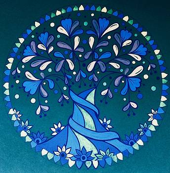Blue tree 3 by Jilly Curtis