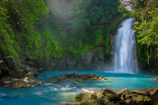 Blue Waterfall by Rikk Flohr
