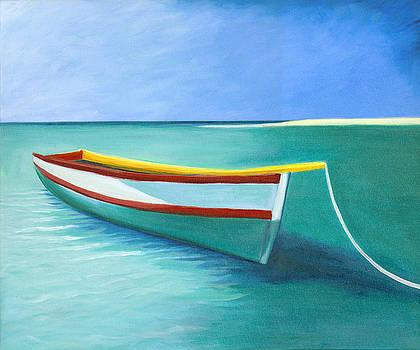 Boat in Aruba by Francoise Lynch