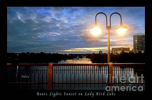 Felipe Adan Lerma - Boat, Lights, Sunset On Lady Bird Lake