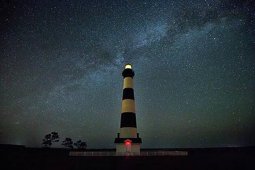 Bodie lighthouse and Milky Way by Jack Nevitt