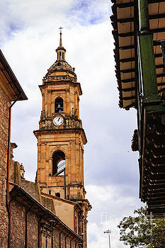 Bogota, Colombia - Looking Upwards at Belfry of Cathedral Primada by Devasahayam Chandra Dhas