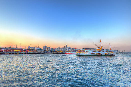 Bosphorus Sunset Istanbul by David Pyatt