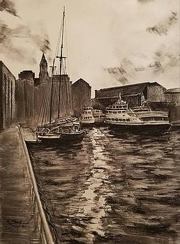 Boston Harbor by Rose Wang