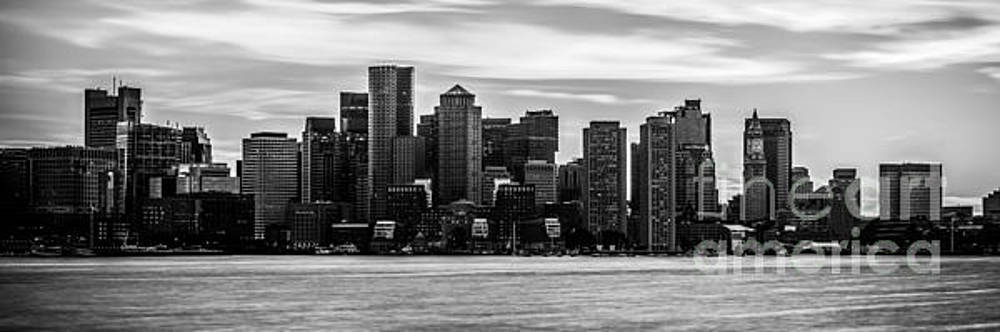 Boston Skyline Black and White Panoramic Picture by Paul Velgos
