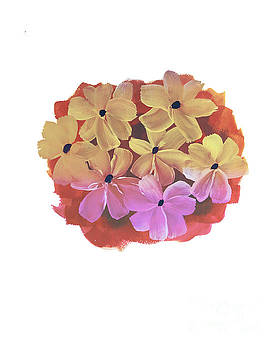 Watercolor floral bouquet by Rasirote Buakeeree