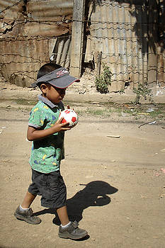 Boy with Ball by Roberto F