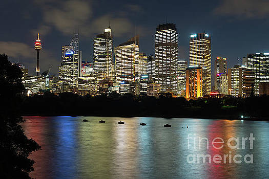 Brisbane Skyline after dark by Andrew Michael