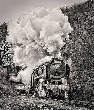 Britannia 70000 pulling out of Berwyn by Andrew Munro