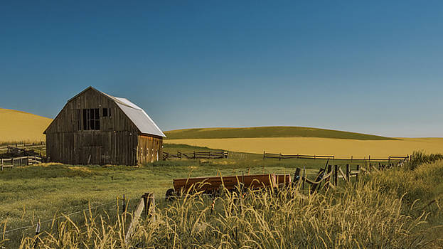 Brown Barn on a Country Road by Don Schwartz