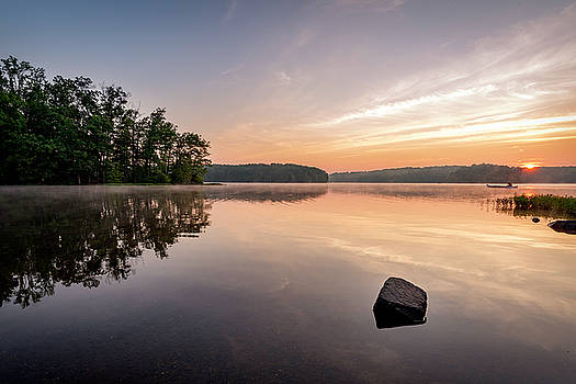 Burke Lake Reflection by Michael Donahue