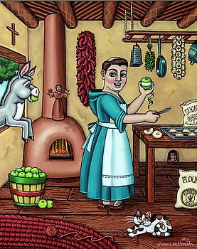 Burritos In The Kitchen by Victoria De Almeida