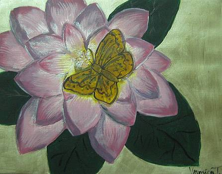 Butterfly and Lotus by Veronica Trotter